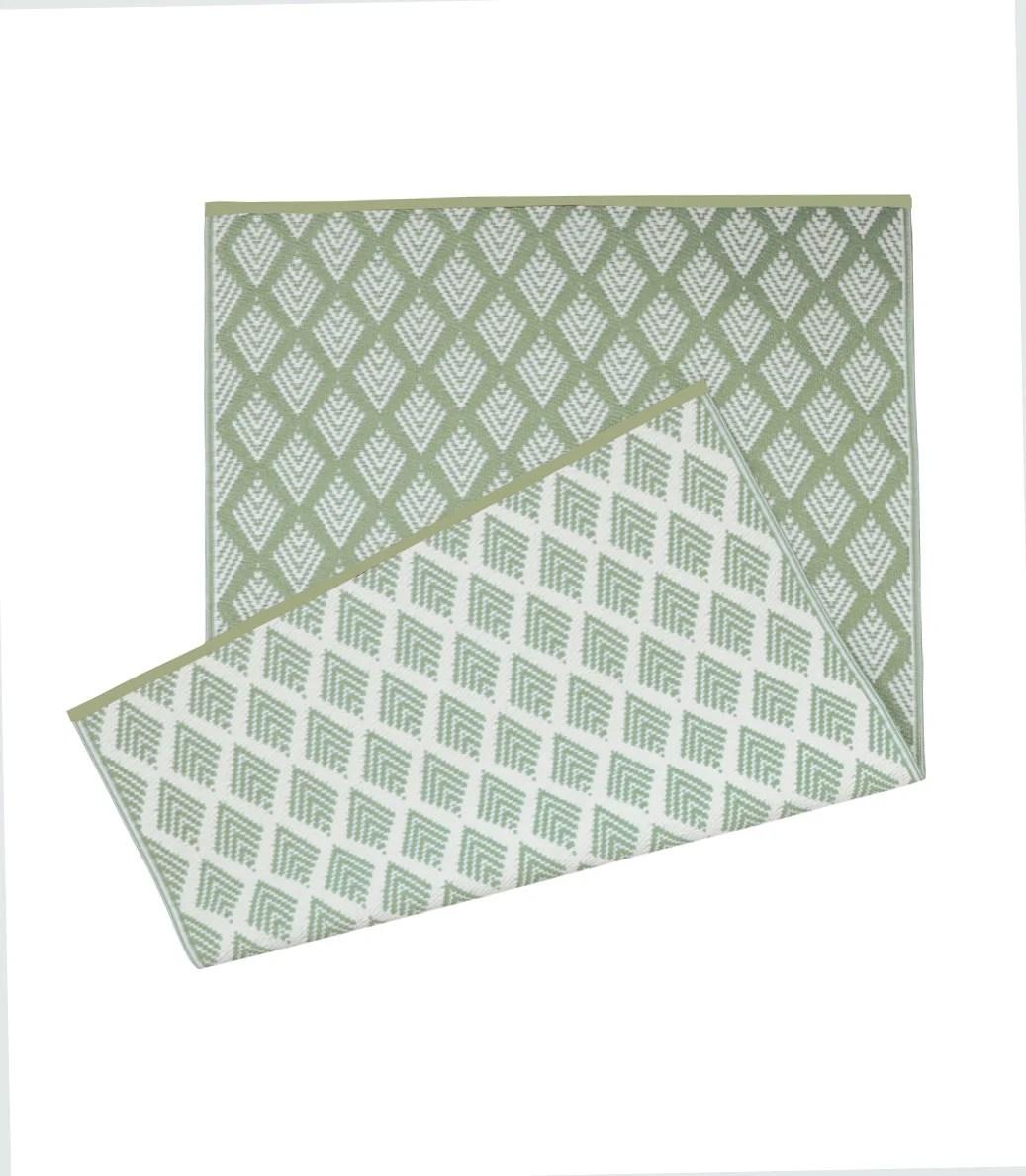 tapis exterieur l 120 x l 180 cm solys kalamata kaki l