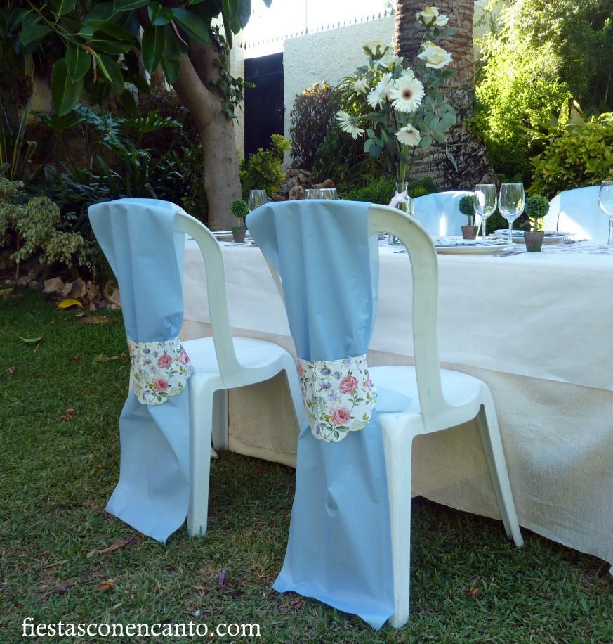 Mesa de comunin o bautizo en rosa y celeste  Paperblog