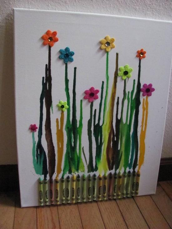 Cuadros con pinturas Crayolas  Paperblog