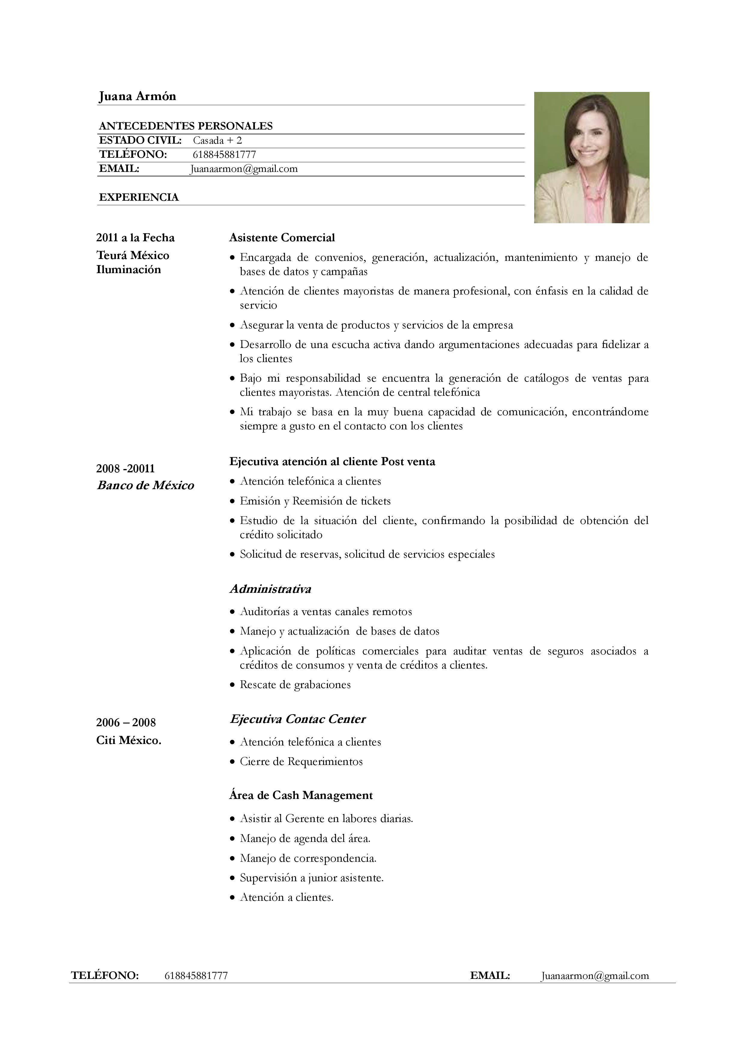 Hacer Curriculum Vitae Pdf Fantastico Bio Resume Formato De