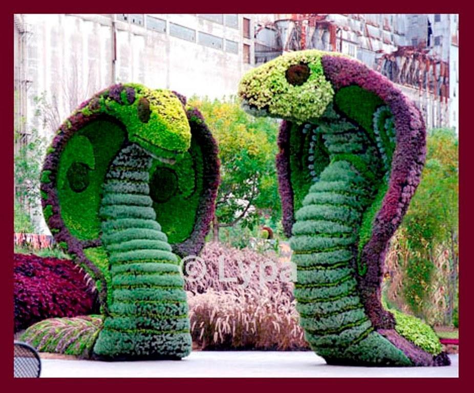 Jardines con figuras de animales y de  Paperblog