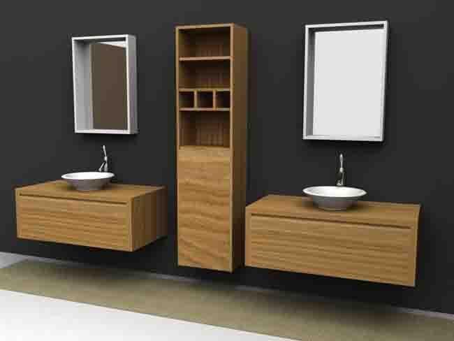 Lindos muebles de madera para el bao  Paperblog