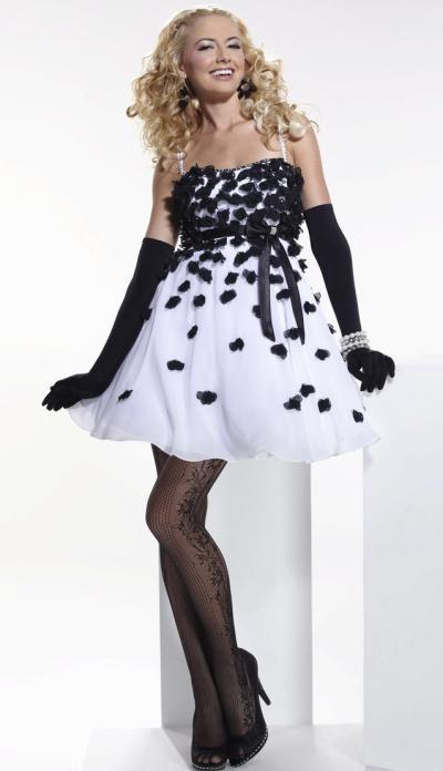Vestidos de fiesta blanco y negro fotos  Paperblog