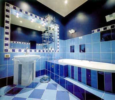 Hermosos baos en color azul  Paperblog