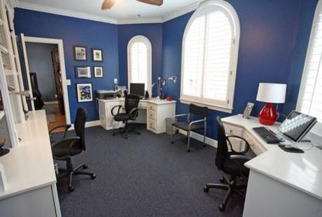 Novedosas oficina en azul  Paperblog