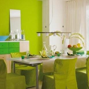 Bellos comedores en color verde  Paperblog
