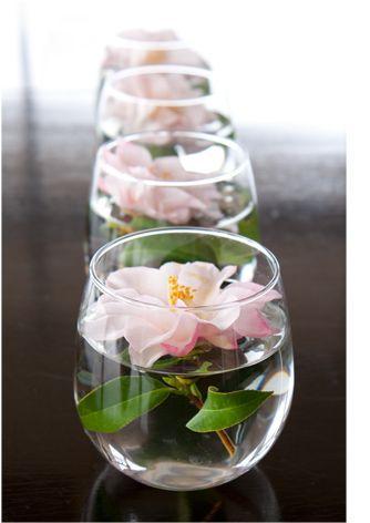 Centros de mesa  cristal y flores naturales  Paperblog
