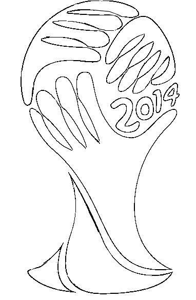 Dibujos del mundial de fútbol Brasil 2014 para colorear