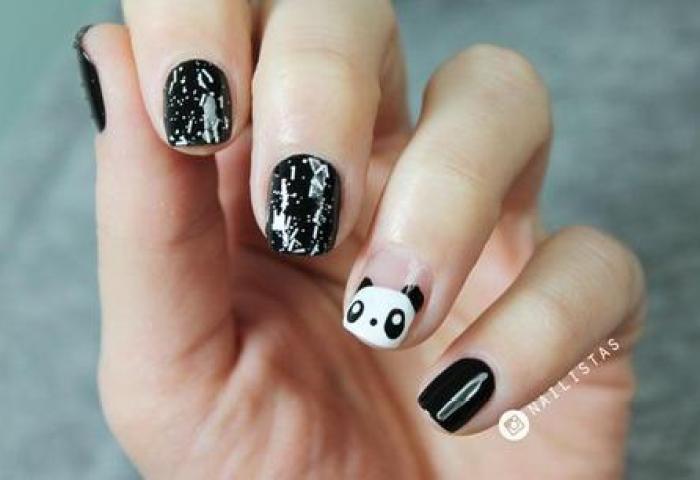 Uñas Decoradas Con Animales Paso A Paso Panda Nail Art Paperblog