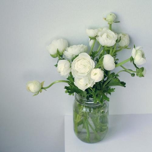 Sencillos centro de mesa con flores blancas  Paperblog