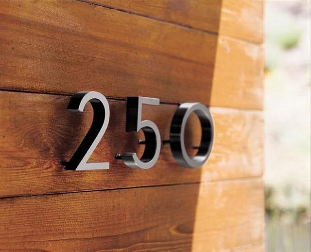 Timbre y nmeros para la casa modernos  Paperblog