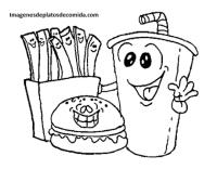 Cuatro dibujos de comidas tipicas del mundo para colorear ...