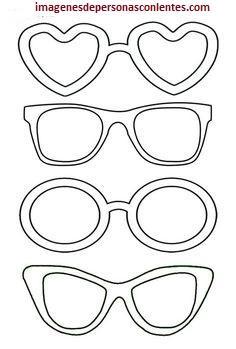 4 Plantillas de dibujos de lentes para imprimir y recortar