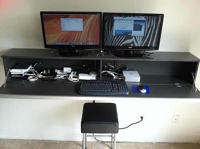 Ikea hack Besta Burs como escritorio para el ordenador