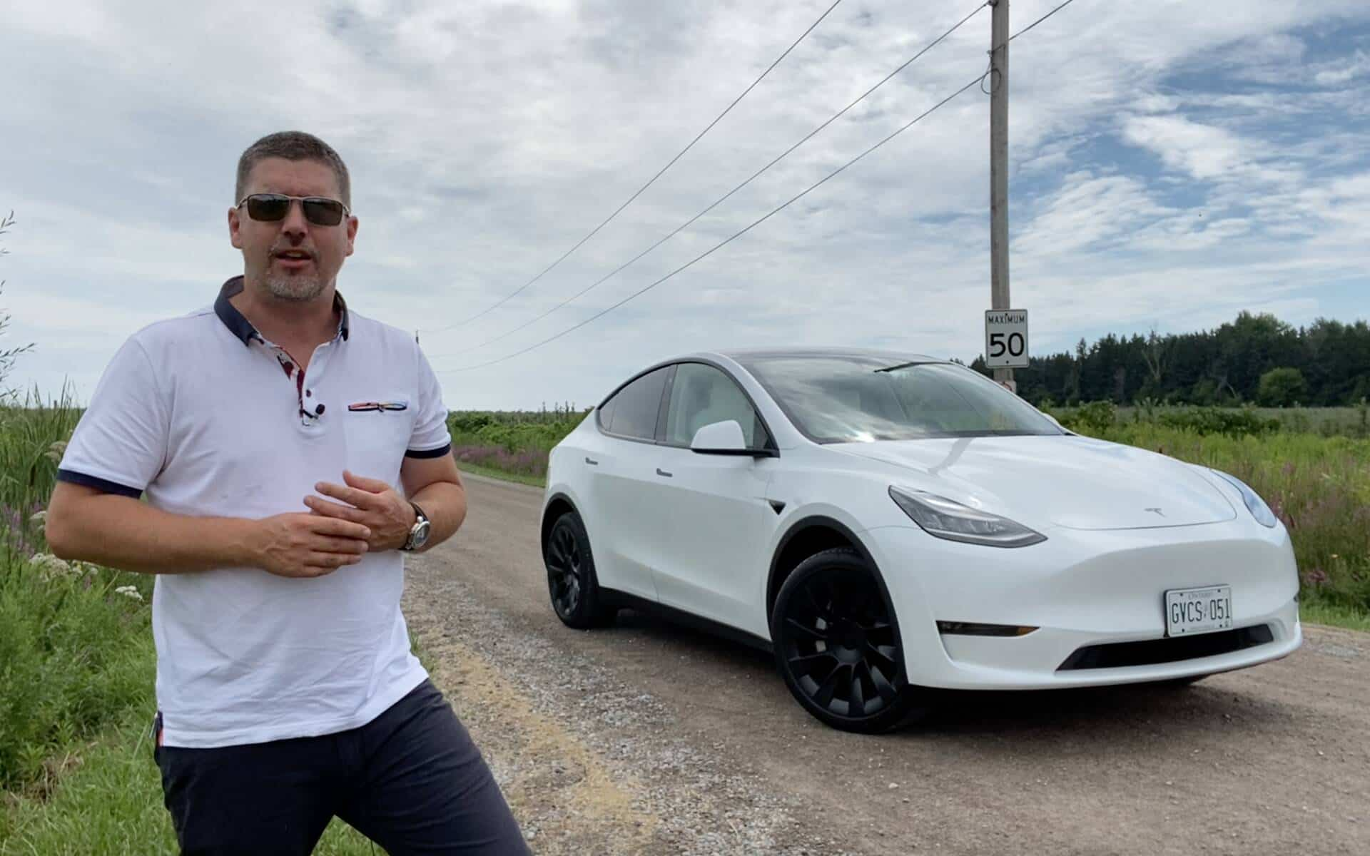 Antoine Joubert présente le Tesla Model Y