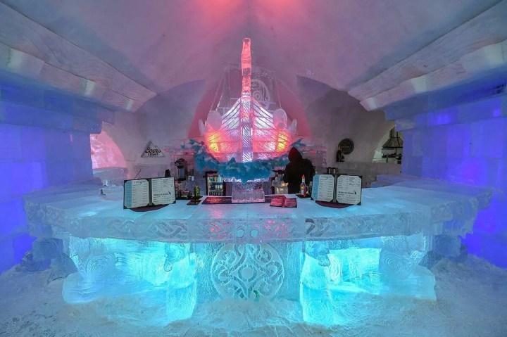 L'hôtel de glace sera plus petit cette année
