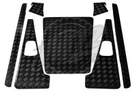 Defender 90 Set A - 2mm Chequer Plate - Powdercoated Black