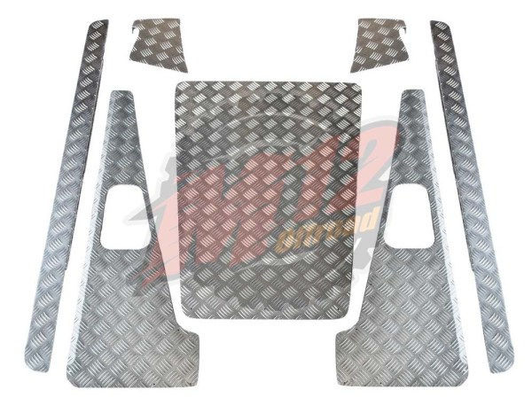 Defender 90 Set A - 2mm Chequer Plate - Natural