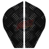 Corner-Plates-2mm-Chequer-Plate- Powdercoated Black - Series 2 & 3 - BA 124AB