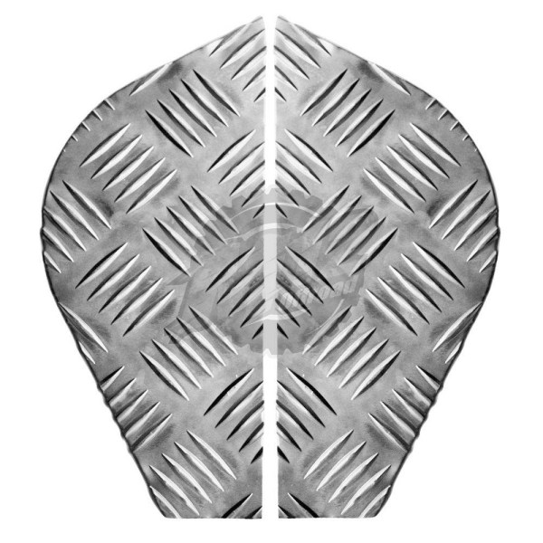 Corner Plates - 2mm Chequer Plate - Natural - Land Rover Series 2 & 3 BA 124A