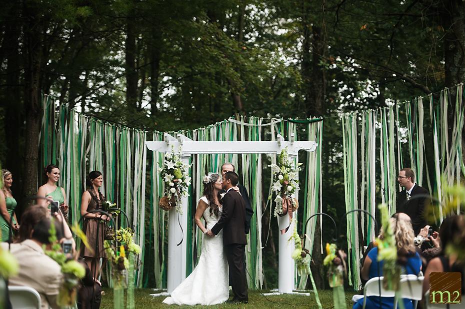 Dan & Trista's Gorgeous Country Backyard Wedding