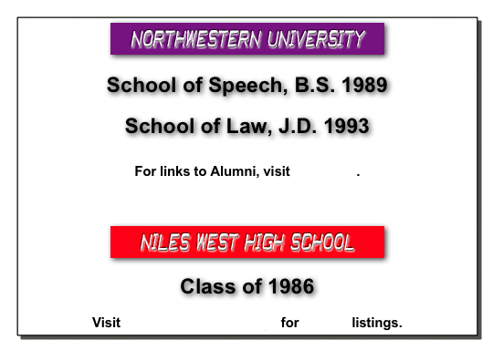 Class of 1986 Niles West's home page for Alumni listings.