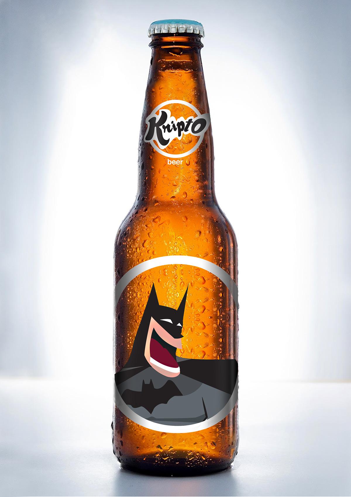 Flash's version Kripto beer Packaging design