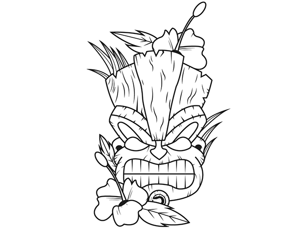 photograph relating to Tiki Mask Printable known as 20+ Younger Tiki Coloring Sheet Guidelines and Options