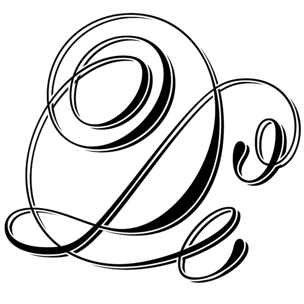 Calligraphy Letter D Designs