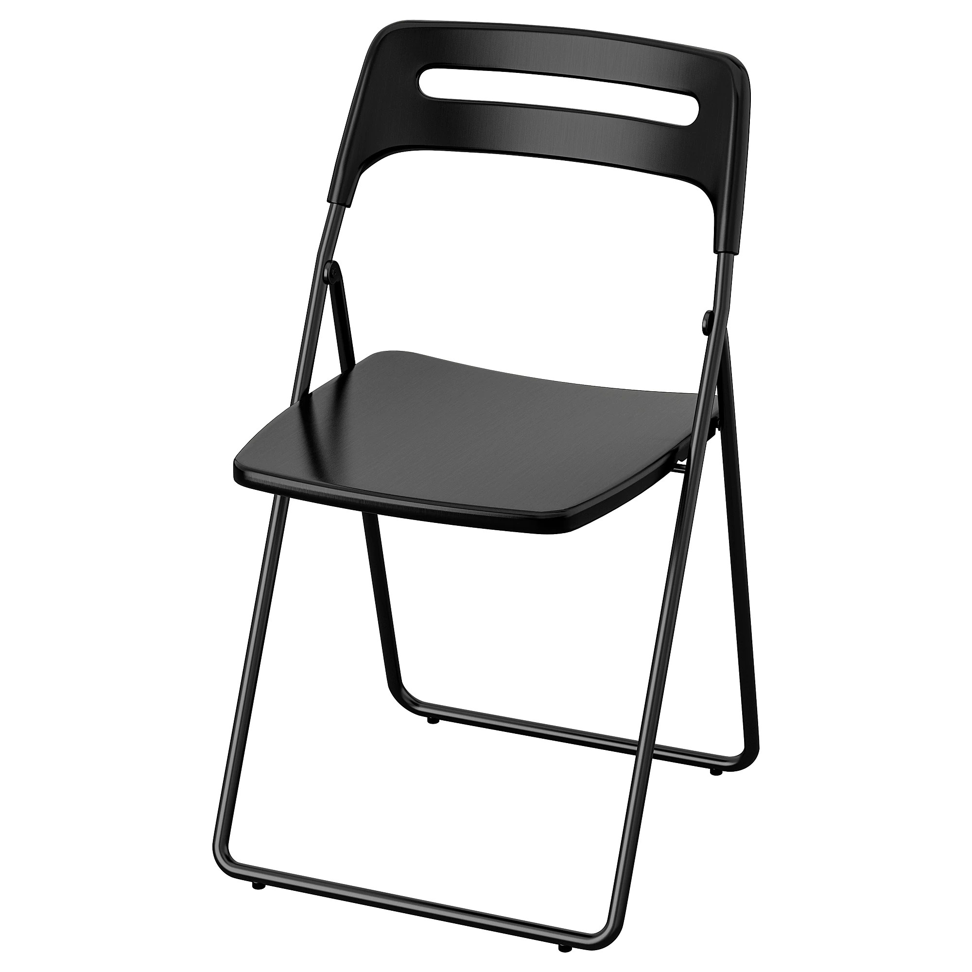 Foldable Office Chair Folding Chair Nisse Black