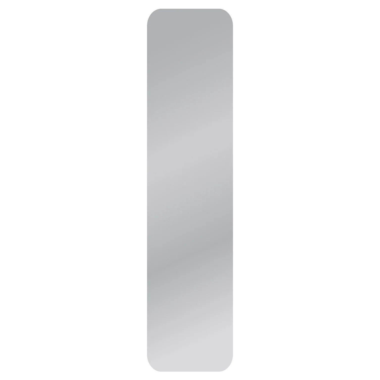 Miroir Non Lumineux Decoupe Carre Avec Coins Arrondis L 30 X L 125 Cm Poli Leroy Merlin