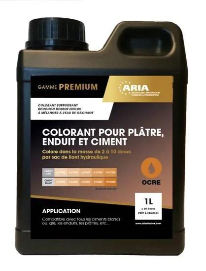 colorant pour beton mortier et platre aria 1l