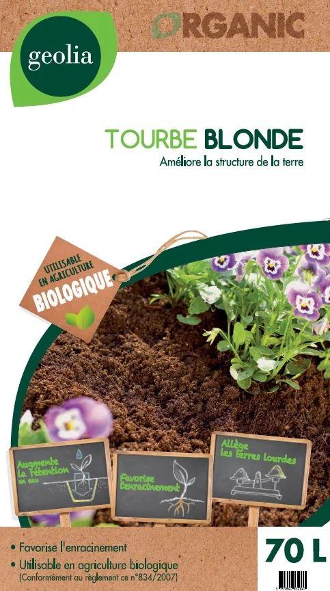 Tourbe Blonde Geolia 70 L Leroy Merlin