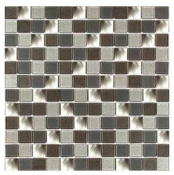Mosaique Mur Remix Gris 2 3 X 2 3 Cm Leroy Merlin
