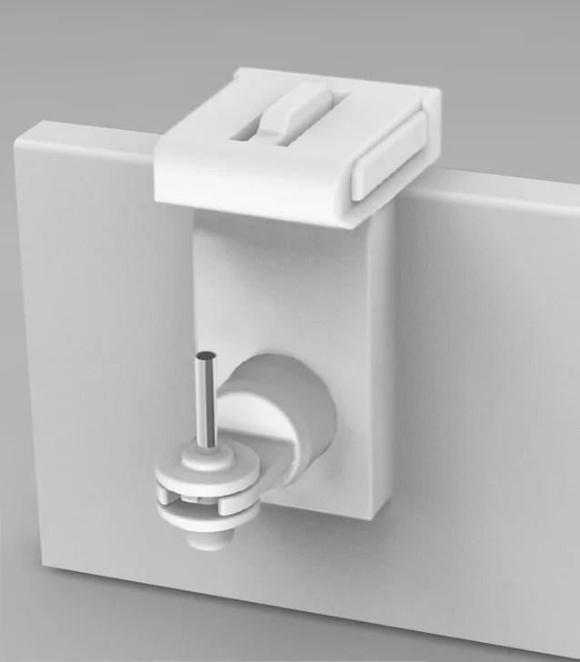 lot de 2 supports sans percage barre de vitrage fenetre standard 10mm blanc