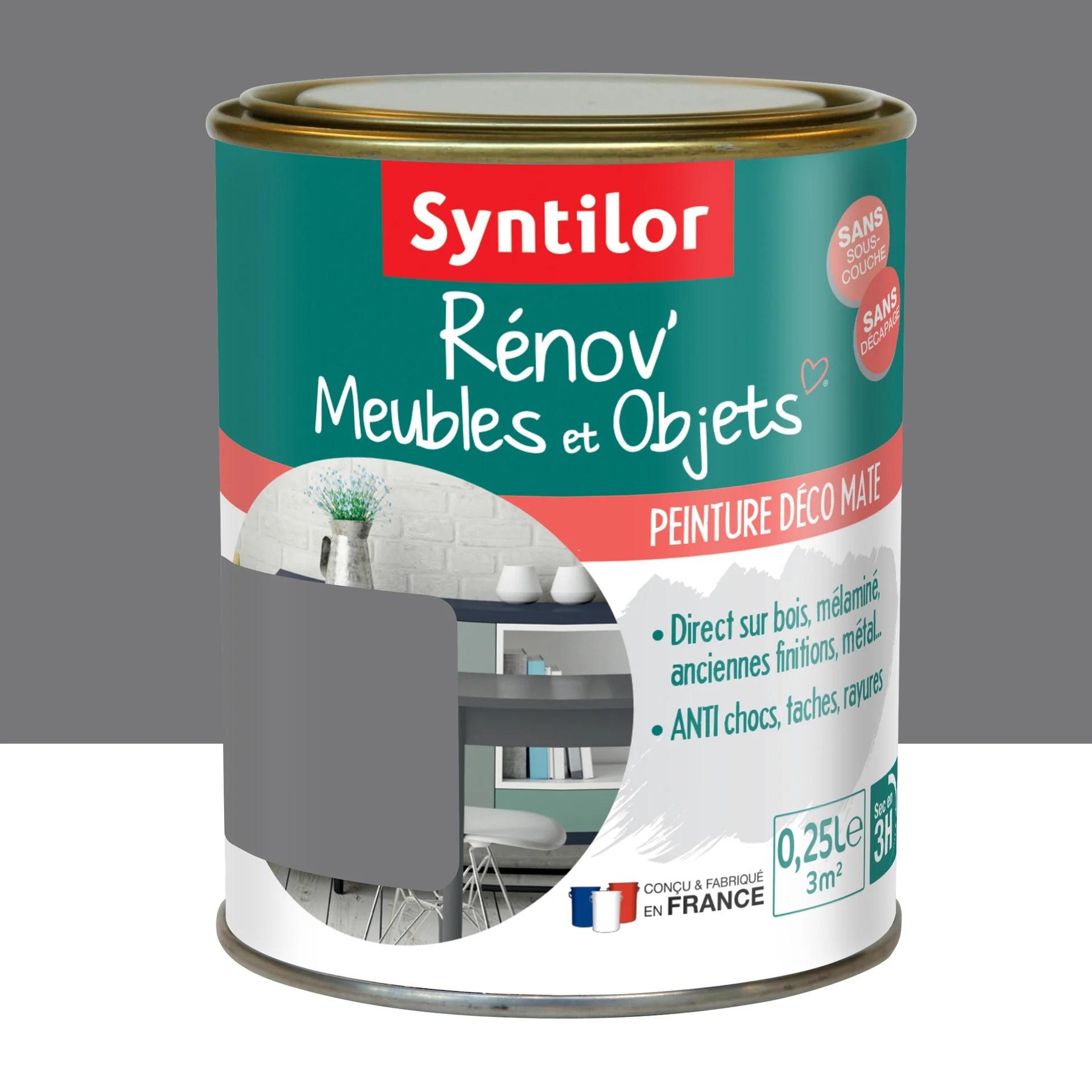 peinture meuble et boiserie renov syntilor noir mat 250 ml