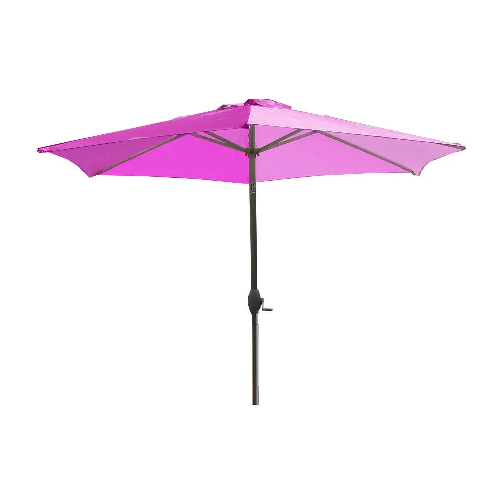 Parasol A Manivelle Inclinable Marbella Violet O2 70m Leroy Merlin