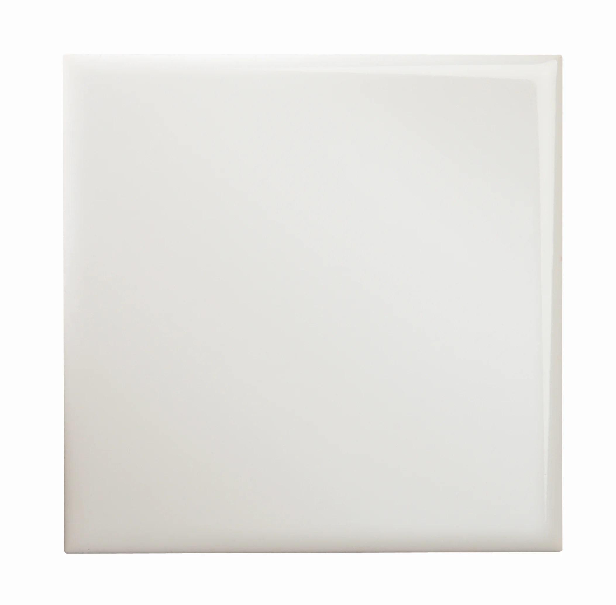 Faience Mur Medio Uni Blanc Brillant L 15 X L 15 Cm Blanc Leroy Merlin