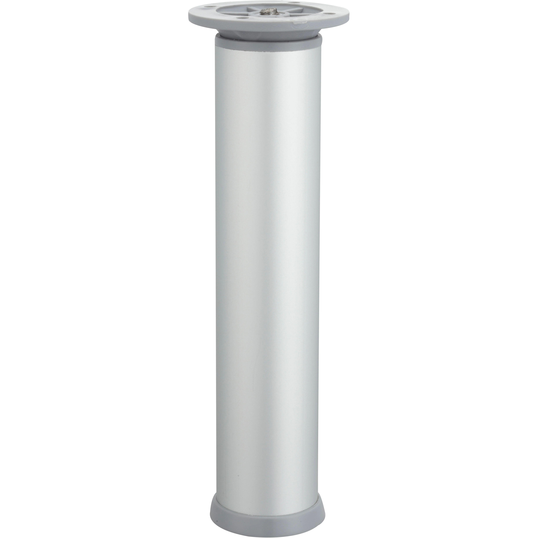 Pied Meuble Cylindrique Hettich Reglable Acier Mat Gris Leroy Merlin