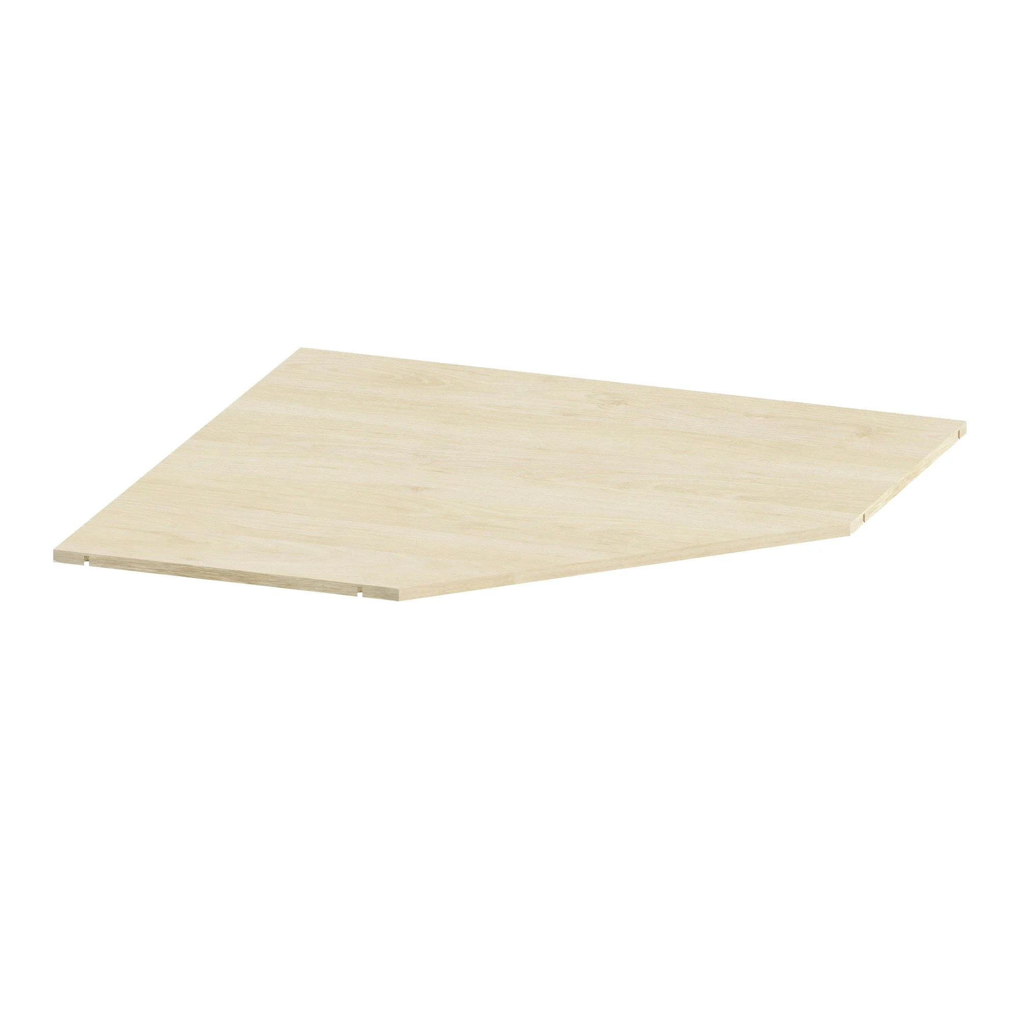tablette d angle spaceo home 1 6 x 85 7 x 85 7 cm effet chene naturel
