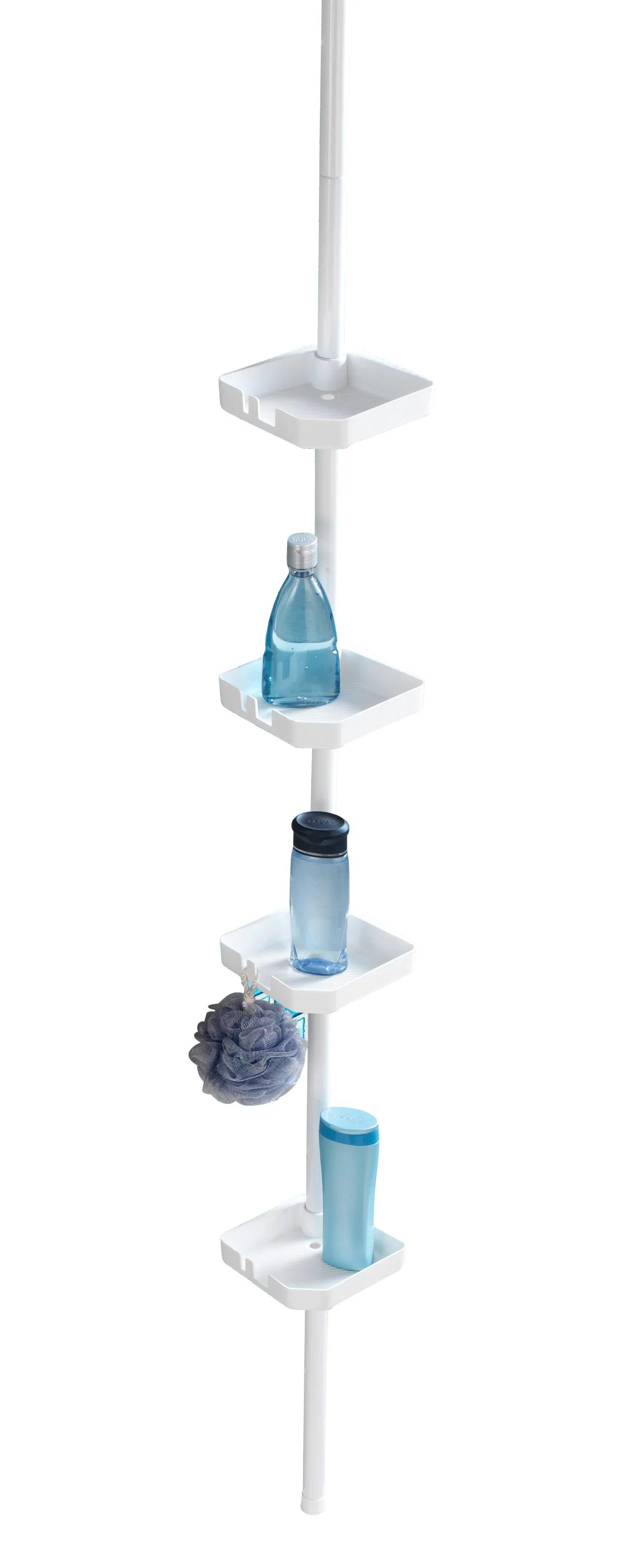 https www leroymerlin fr produits salle de bains baignoire accessoires pour baignoire rangement de bain douche etagere de bain douche a suspendre blanc funky 70762475 html