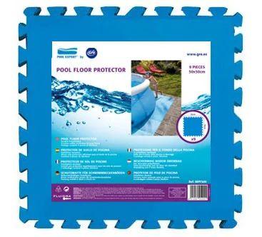Tapis De Sol Compose De 9 Dalles Pool Expert L 50 X L 50 Cm X H 4 5 Mm Leroy Merlin