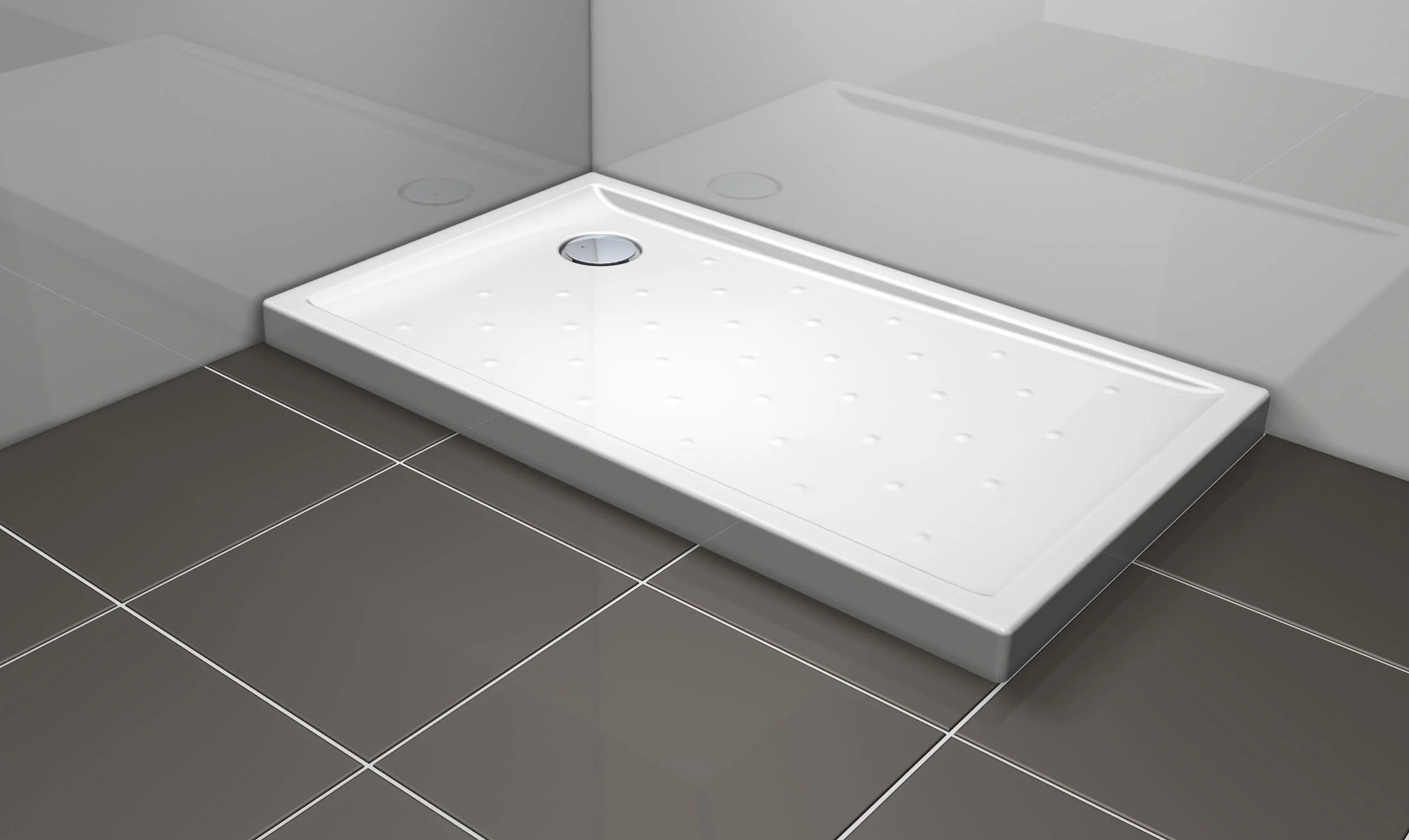 receveur de douche rectangulaire l 120 x l 70 cm gres blanc asca2
