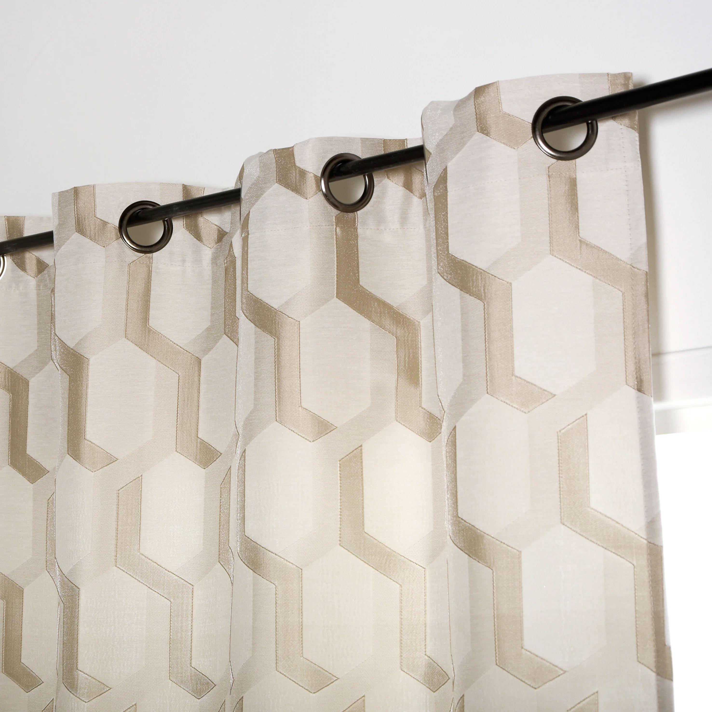 rideau tamisant falher beige l 140 x h 260 cm