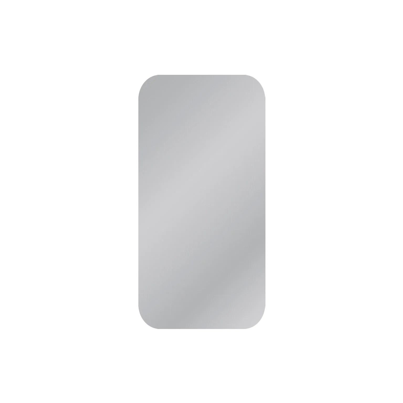 Miroir Non Lumineux Decoupe Carre Avec Coins Arrondis L 40 X L 80 Cm Poli Leroy Merlin