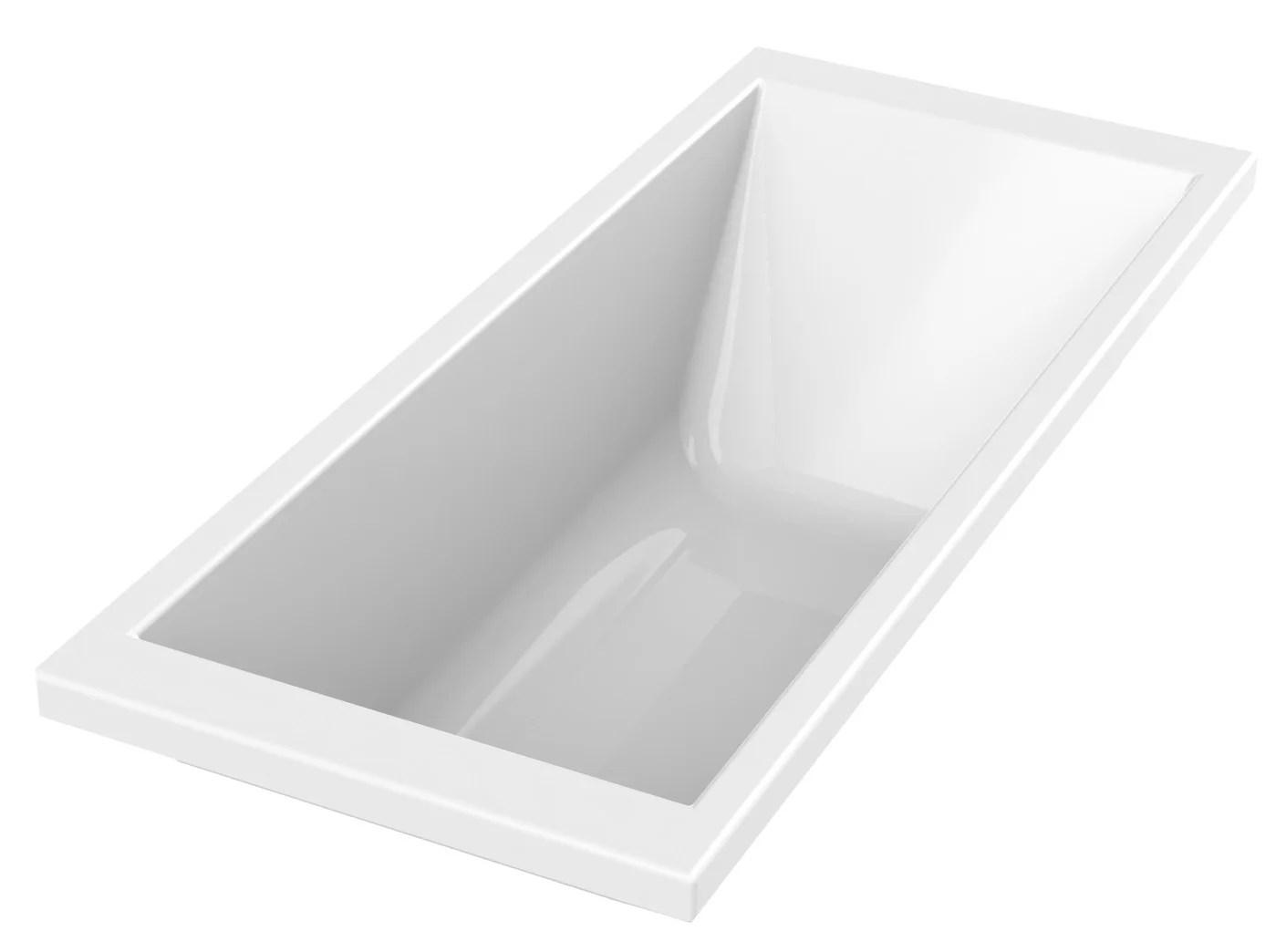 baignoire rectangulaire l 175x l 75 cm blanc sensea premium design