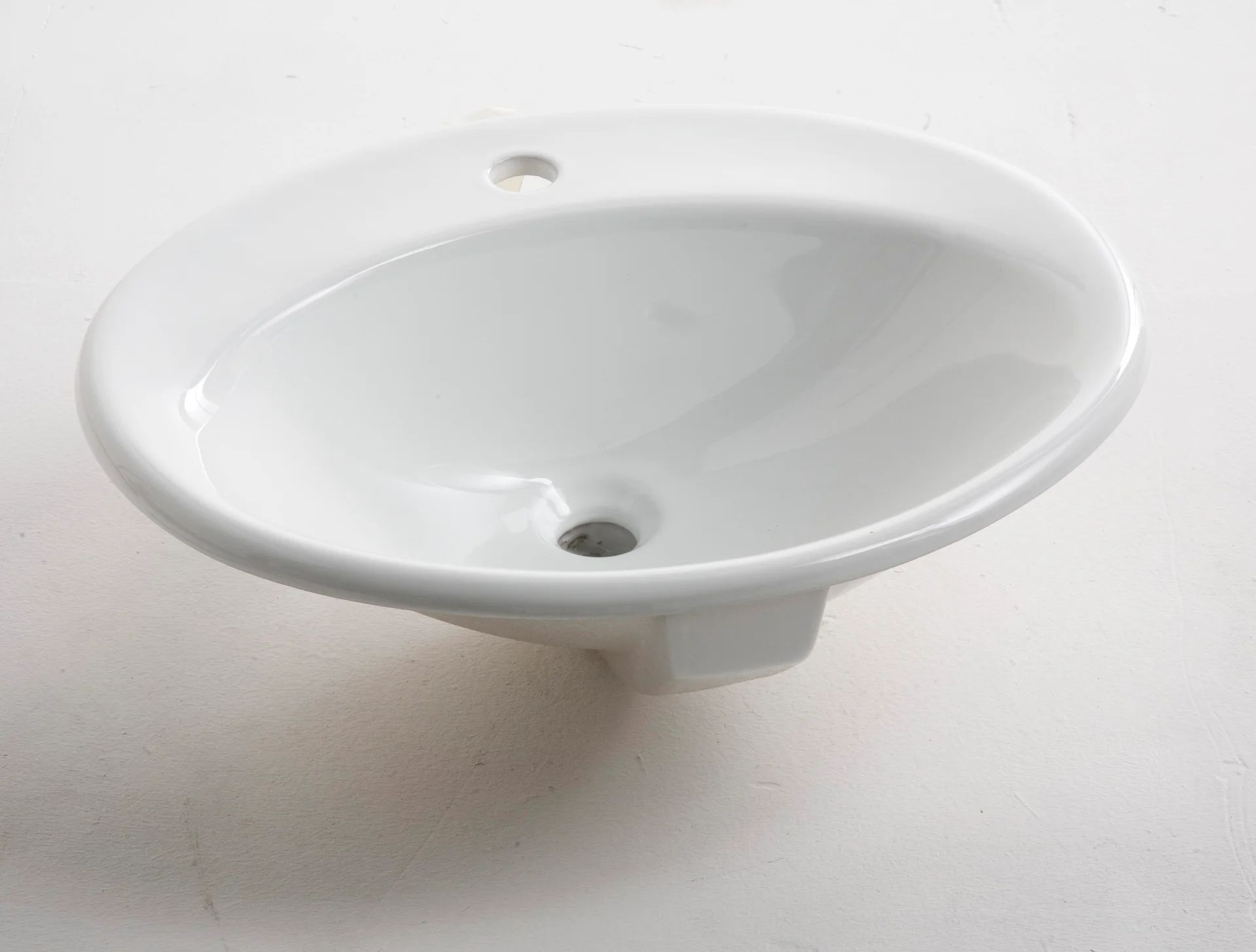Vasque A Encastrer Ceramique L 56 X P 48 Cm Blanc Olympe Leroy Merlin