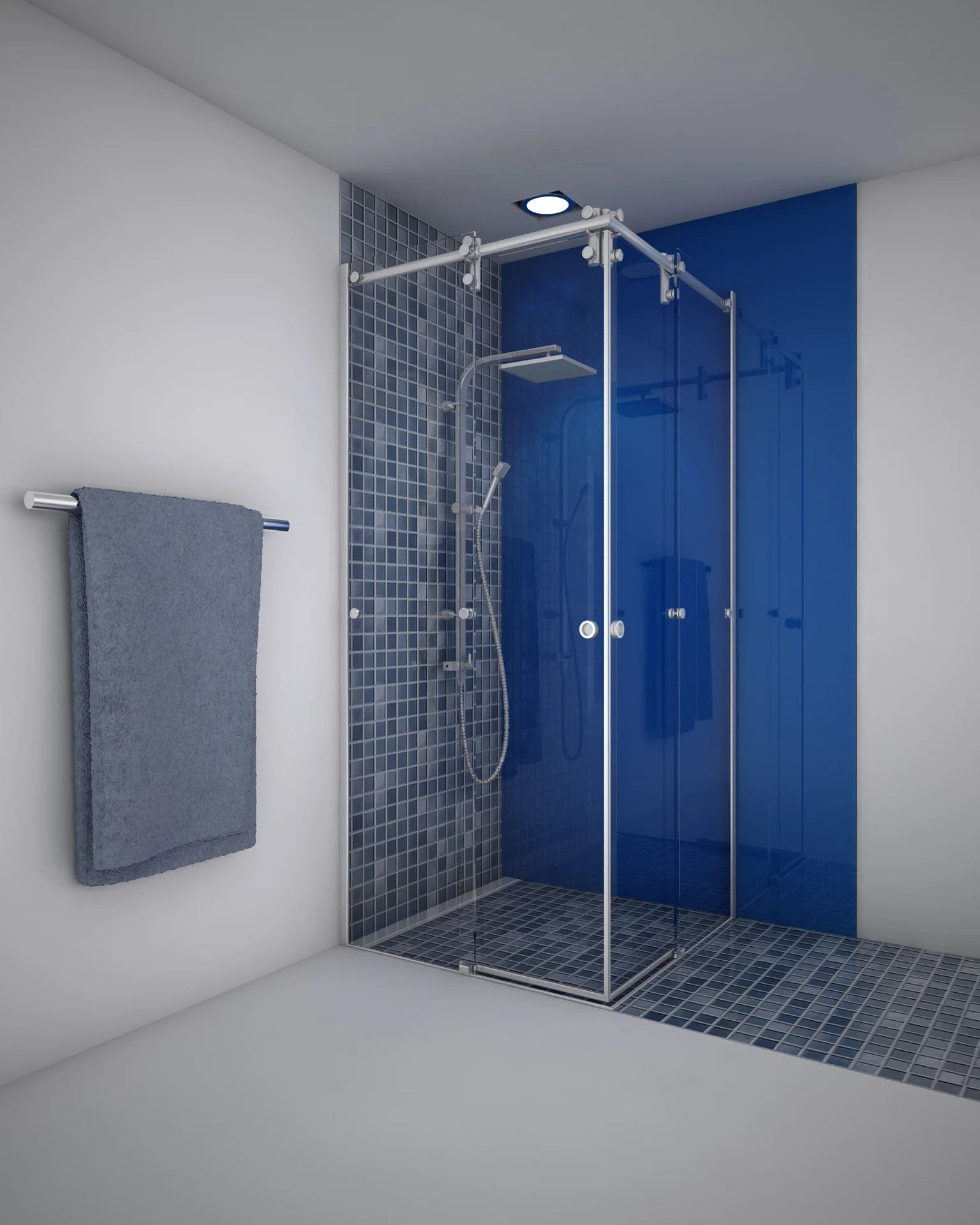 porte de douche coulissante angle carre 90 x 90 cm transparent ellipse2