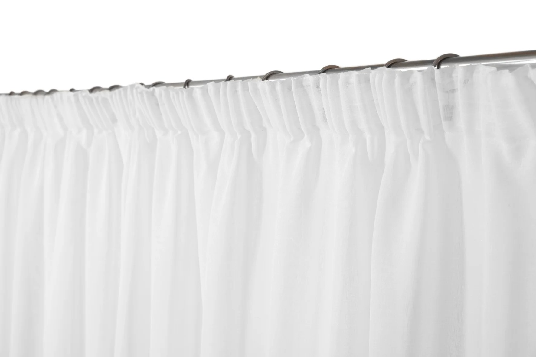 voilage transparent leo ruflette blanc l 280 x h 160 cm