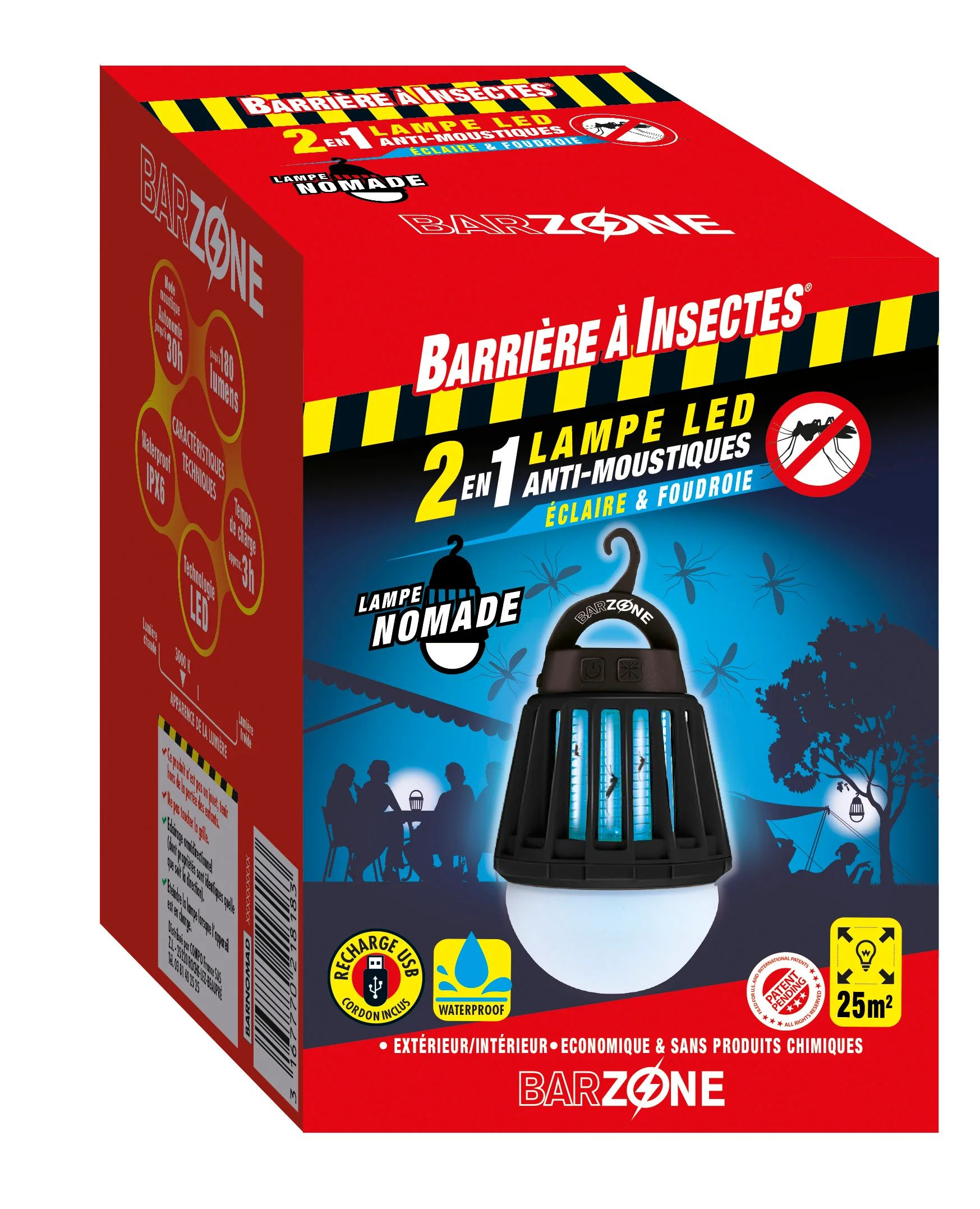 Lampe Anti Moustiques Barriere A Insectes Barzone Leroy Merlin